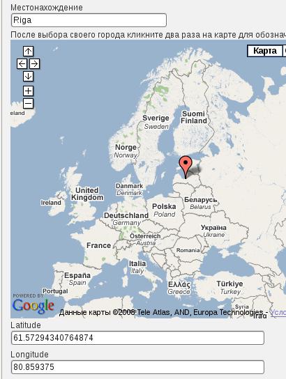 Карта пользователей Интернет Таблеток